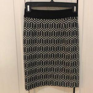 Banana republic pattern skirt
